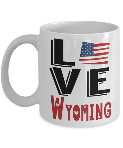 Love Wyoming State Mug Gift Novelty American Keepsake Coffee Cup