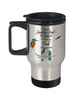 In Memory of Parent Kingfisher Bird Gift Travel Mug I Have a Guardian Angel in Heaven I Call Him My Dad Forever in My Heart for Memory Coffee Cup