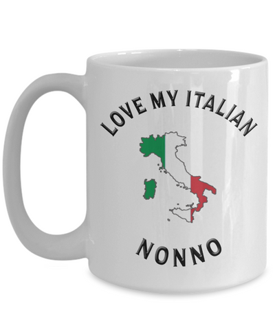 Image of Love My Italian Nonno Mug Novelty Birthday Gift Ceramic Coffee Cup