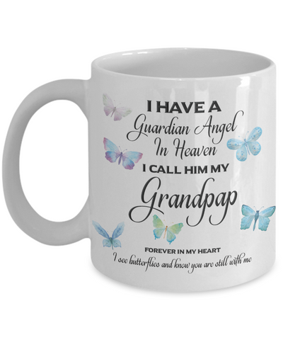 Image of Grandpa Memorial Gift I Have a Guardian Angel in Heaven I Call Him My Grandpap  Grandfather Remembrance Gifts