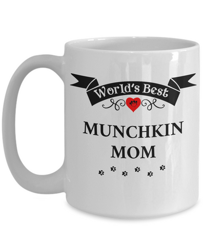 Image of World's Best Munchkin Mom Cup Unique Ceramic Cat Coffee Mug Gifts for Women
