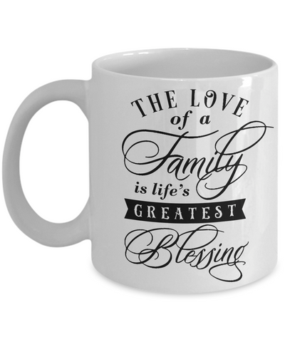 Love of a Family Mug Greatest Blessing Novelty Ceramic Coffee Cup