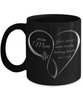 Mom Memorial Heart Black Mug Your Wings Were Ready My Heart Was Not Keepsake Coffee Cup