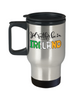 I'd Rather be in Ireland Travel Mug Expat Irish Gift Novelty Birthday Coffee Cup