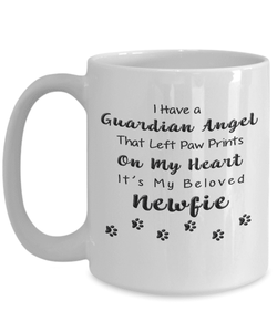 Newfie Memorial Gift,  I Have a Guardian Angel... Newfie, Pet Remembrance Gift