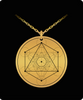 Metatron's Cube Pendant Sacred Geometry Laser Etched Gold Color Necklace