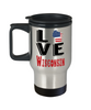 Love Wisconsin State Travel Mug Gift Novelty American Keepsake Coffee Cup