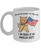 Proud American Roots Cat America Flag Mug Gift No Matter Where Life Takes Me Novelty Coffee Cup