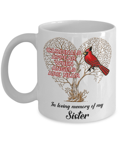 Image of Sister Cardinal Memorial Coffee Mug Angels Appear Keepsake
