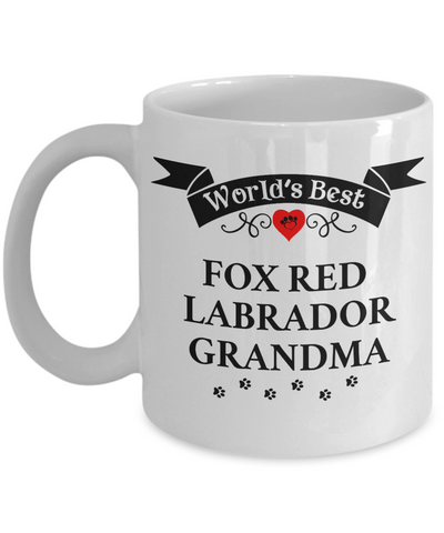 Image of World's Best Fox Red Labrador Grandma Cup Unique Ceramic Dog Coffee Mug Gifts for Women