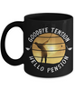 Enjoy Golfing Retirement Black Mug Gift Goodbye Tension Hello Pension Retire Happy Good Luck Novelty Cup