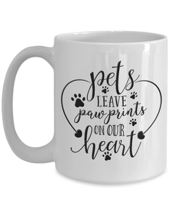 Dog Memorial Gift, Pets Leave Paw Prints On Our Heart, Pet Remembrance Gifts
