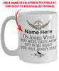 Custom Add Name Angel Wings Memorial Mug Gift In Loving Memory 15 oz Coffee Cup