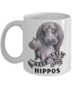 Keep Calm and Love Hippos Mom Mug Gift Hippo Mom and Baby Lover Novelty Birthday Cup
