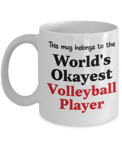 World's Okayest Volleyball Player Mug Occupational Gift Novelty Birthday Thank You Appreciation Ceramic Coffee Cup