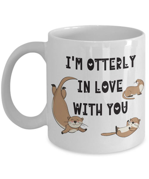 "Surprise Gift for Otter Lovers, ""I'm Otterly in Love With You"" Gift for Wife, Husband"