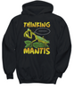Thinking Praying Mantis Hoodie Gift Novelty Birthday Christmas Clothing