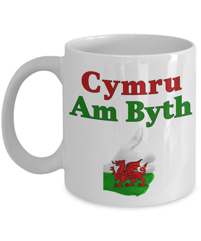 Cymru Am Byth Mug Wales Forever Welsh National Pride Novelty Birthday Gift Ceramic Coffee Cup V2
