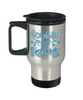 Hooked on Fishing Coffee Travel Mug With Lid Fisherman Cup