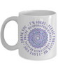 Hoʻoponopono Mandala Mug Hawaiian Prayer for Healing Coffee Cup