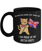 Proud British Roots Cat UK Flag Black Mug Gift No Matter Where Life Takes Me Novelty Cup