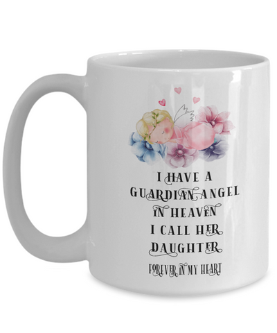 Guardian Angel Baby Daughter Mug Beautiful Angelic Being Floral Coffee Cup