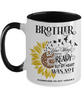 Brother Your Wings Were Ready Sunflower Mug In Loving Memory Two-Tone Coffee Cup