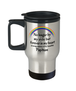 Papitese Memorial Gift Dog Travel Mug With Lid No Longer By My Side Memory of Pet Gifts