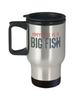 Fishing Happiness is a Big Fish Coffee Travel Mug With Lid Fisherman Cup