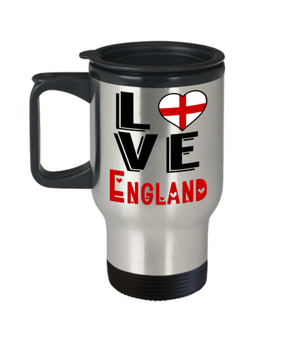 Love England Travel Mug Gift Novelty English Keepsake Coffee Cup