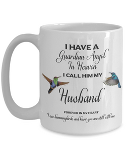Husband Memorial Gift Guardian Angel Husband Forever in My Heart  Spouse Remembrance Gifts