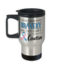 Cousin Cousin Cancer Awareness Travel Mug With Lid I Never Knew What Bravery Was Novelty Support Gift Coffee CupCancer Awareness Travel Mug With Lid I Never Knew What Bravery Was Novelty Support Gift Coffee Cup