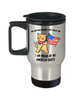Proud American Roots Cat America Flag Travel Mug Gift No Matter Where Life Takes Me Novelty Cup