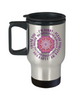 Ho'oponopono Pink Mandala Travel Mug Hawaiian Prayer for Healing Coffee Cup