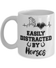 Easily Distracted By Horses Mug Gift Equine Lover Novelty Coffee Cup