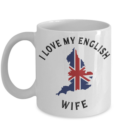 Image of I Love My English Wife Mug Novelty Birthday Gift Ceramic Coffee Cup