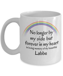 Labbe Memorial Gift Dog Mug No Longer By My Side But Forever in My Heart Cup In Memory of Pet Remembrance Gifts