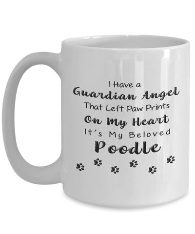 Image of Poodle Memorial Gift Guardian Angel... Poodle, Pet Remembrance Gift