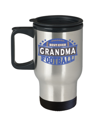 Best Ever Football Grandma Insulated Travel Mug With Lid Gift Fun Novelty Birthday Sport Lover Teacher Supporter Coffee Cup