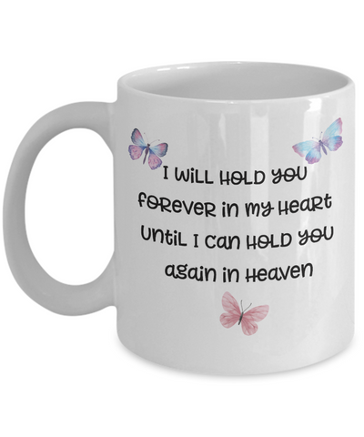 "Image of Butterfly Memorial Gifts I Will Hold You Forever In My Heart..."" Baby Memorial Gifts"