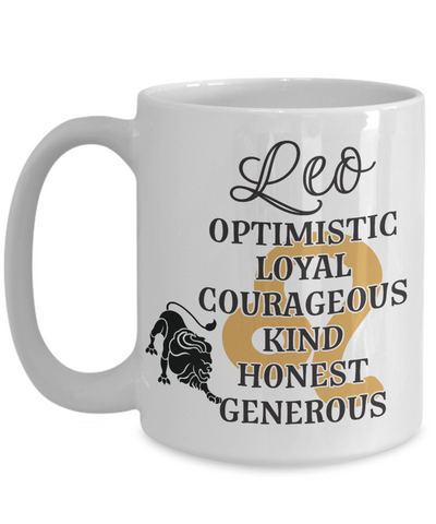 Leo Zodiac Mug Gift Fun Novelty Birthday Coffee Cup