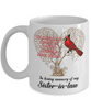 Sister-in-law Cardinal Memorial Coffee Mug Angels Appear Keepsake