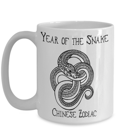 Image of Chinese Zodiac Gift, Year of the Snake Chinese Zodiac Snake Gift Mug