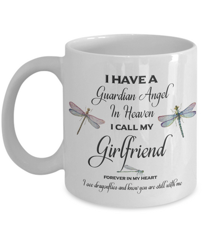 Girlfriend Dragonfly Memorial Mug Guardian Angel In Loving Memory Memorial Gifts Ceramic Coffee Cup