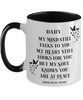 Baby Memorial Mug My Mind Still Talks to You In Loving Memory Two-Toned Cup