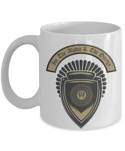 Christian Faith Gifts I'm the Alpha and the Omega Bible Verse Coffee Mug Gift