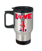 Love United Kingdom Mug Gift for British UK Great Britain Ex-Pats Novelty Birthday Coffee Cup