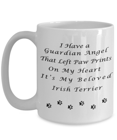Image of Irish Terrier Memorial Gift Guardian Angel Irish Terrier Pet Remembrance Gifts