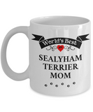 World's Best Sealyham Terrier Mom Cup Unique Ceramic Dog Coffee Mug Gifts for Women