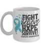 Fight Believe Hope Survive Cancer Mug Gift Awareness Support Coffee Cup